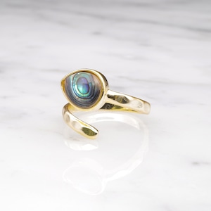 SINGLE STONE OPEN RING GOLD 020