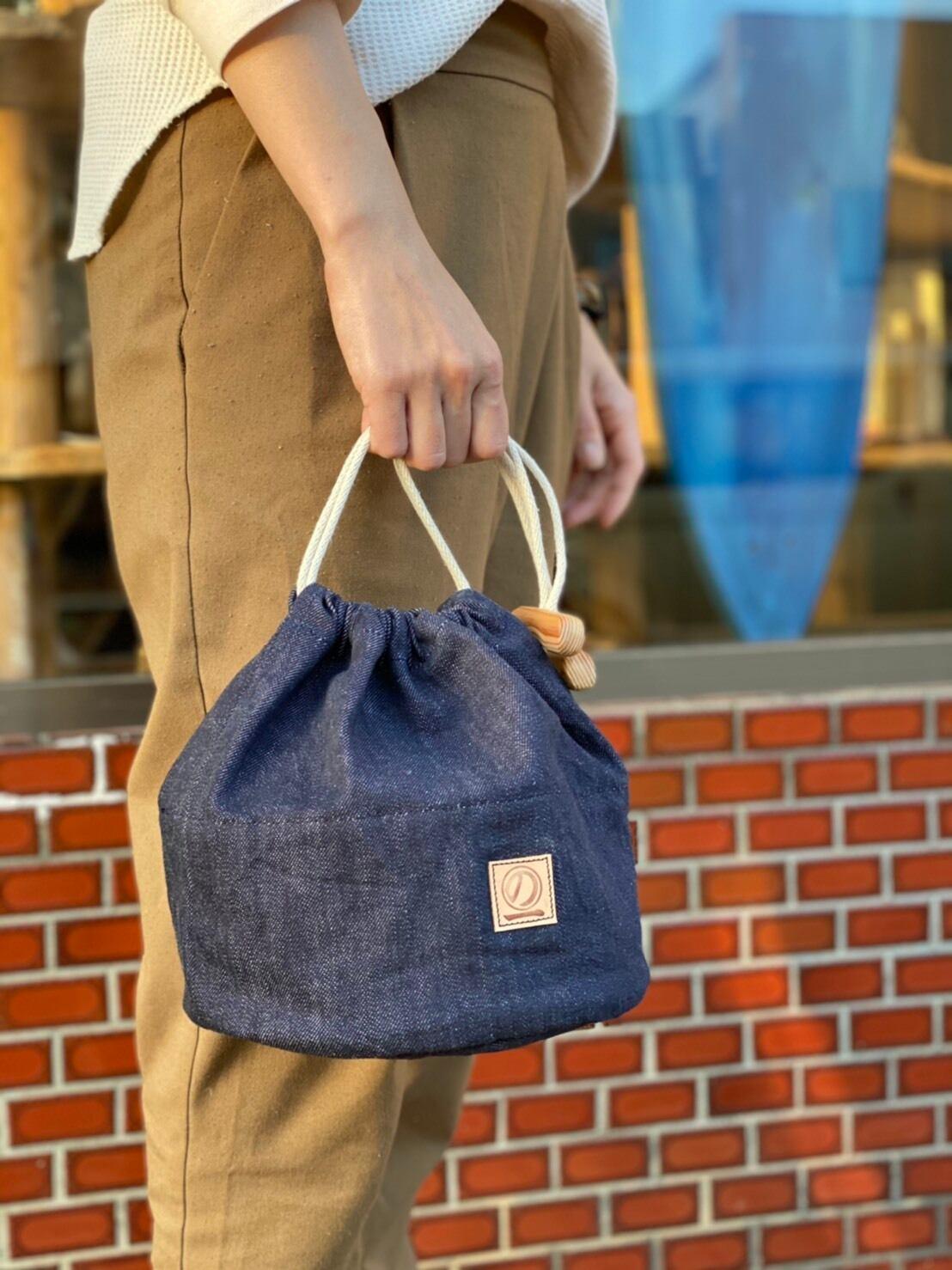 """Chokai noichi outdoor """"丸底のコロンと可愛いのいちの巾着"""""""