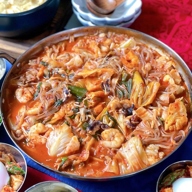 釜山風ナッチポックン(タコの辛鍋)