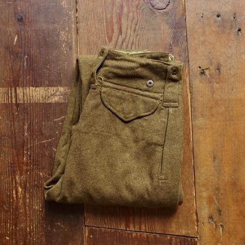 1950s Canadian Army Wool Field Pants / 50年代 カナダ軍 変則カーゴ ウール パンツ