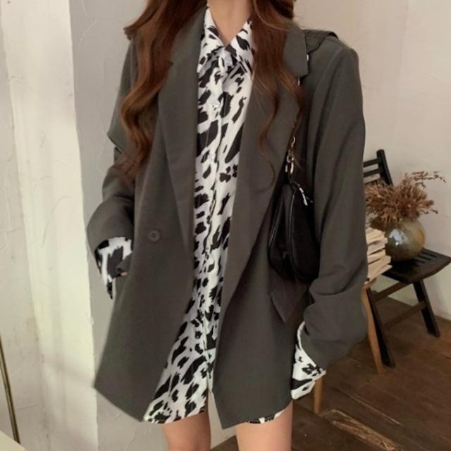 【アウター】4色展開 韓国通販 フェミニン 通勤/OL 無地 エレガント 長袖 折襟 スーツジャケット52312330