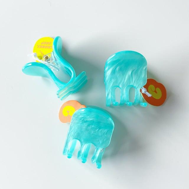 "Chunks ""Mini Claw"" Blue Shimmer チャンクス バンスクリップ・ヘアピン"