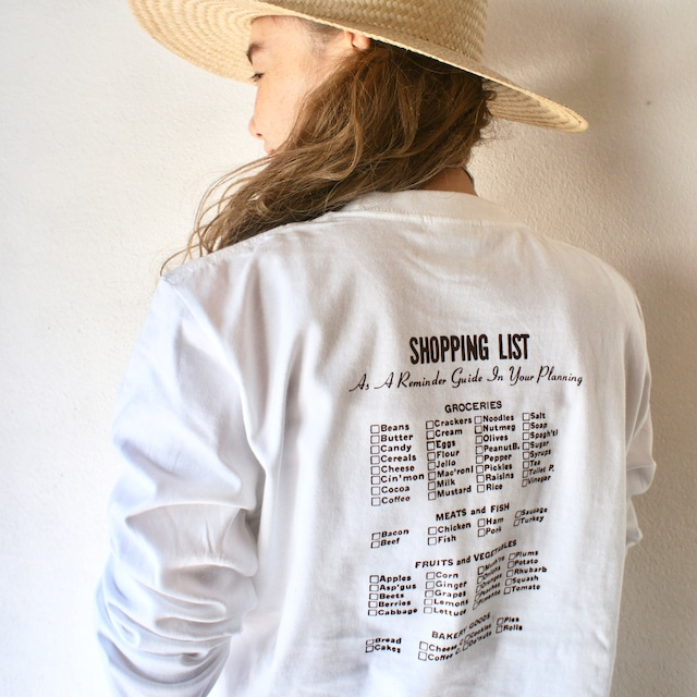 SHOPPING LIST L/S Tee Adult