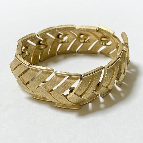 Vintage Trfari Gold Tone Metal Link Bracelet