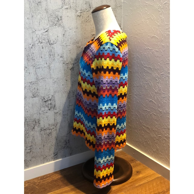US slit flare sleeve knit