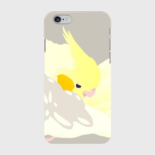 iPhoneケース もふもふオカメインコ パステルフェイスシナモンパールパイド【各機種対応】