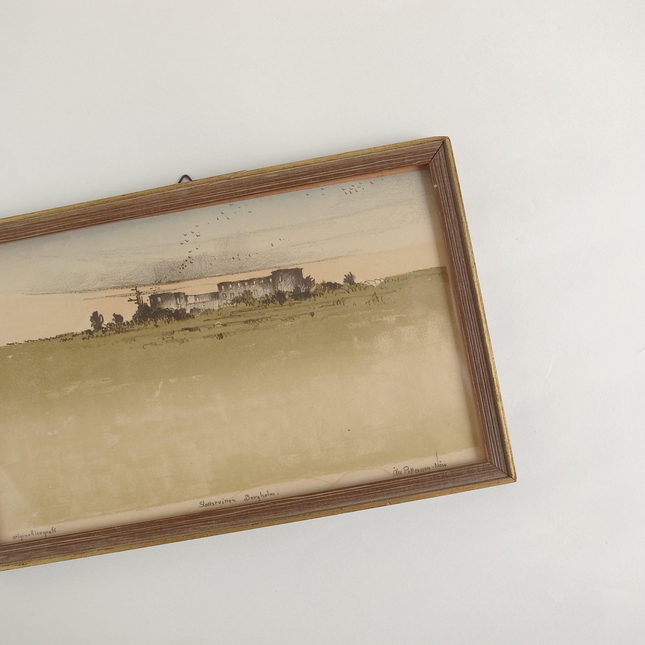 ボリホルム城跡 リトグラフ 絵画