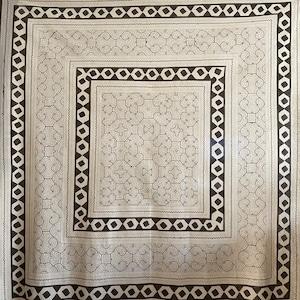 大判 6 白 150x150cm AAA アマゾン シピボ族の泥染め 四角ヘビ