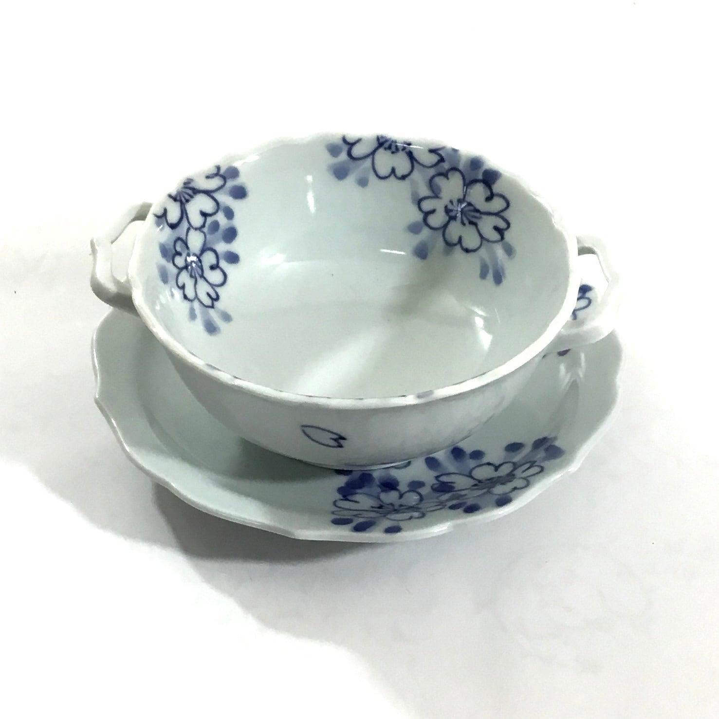 桜スープ碗皿