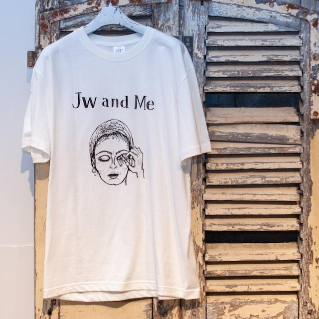 """me faire【ミ・フェール】""""Jw and Me""""T-shirt (white)"""