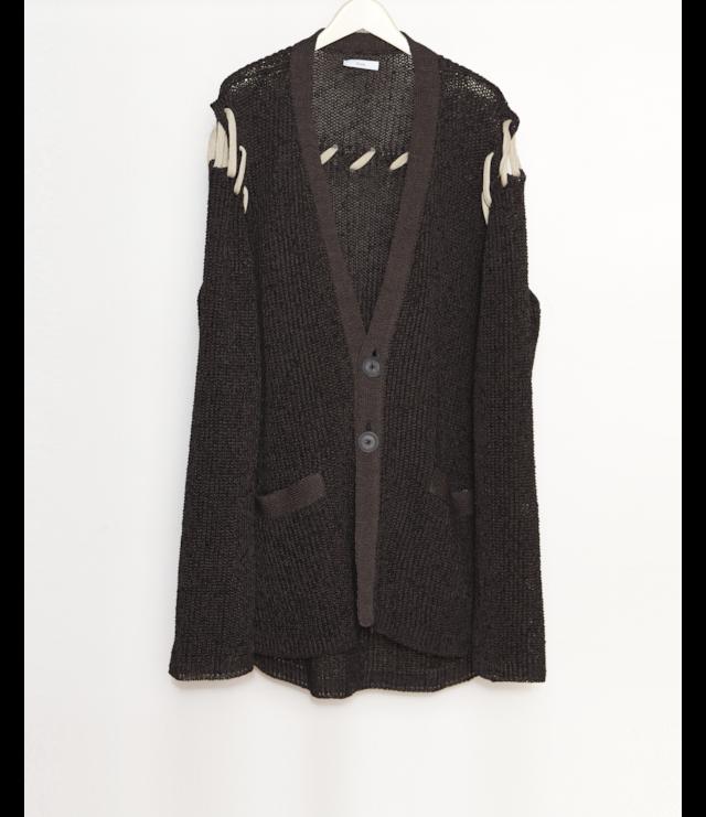 Braid Cardigan / Black
