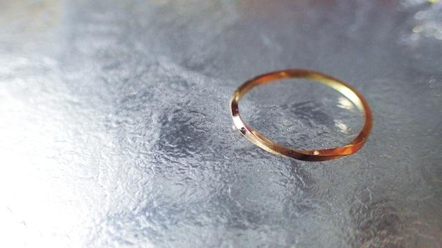 【11号から15号】K10YG Twist ring