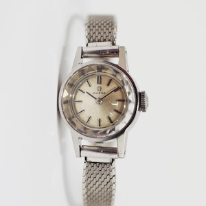 OMEGA オメガ カットガラス 手巻き 腕時計 レディース