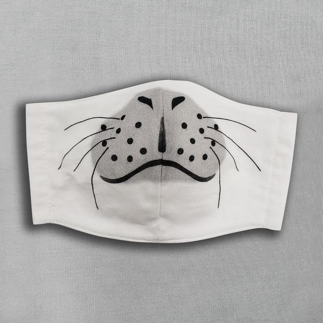【抗菌・抗ウィルス加工マスク/受注販売】子アザラシ|動物マスク