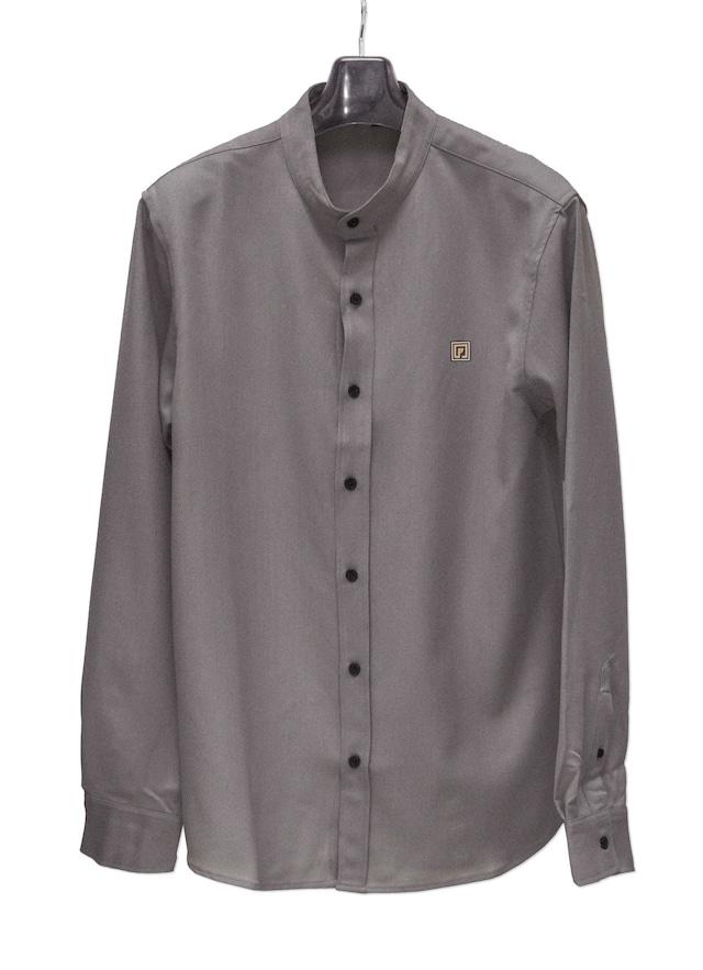 P-emblem Band Collar Shirts チャコール