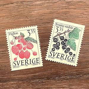 切手(未使用)「ベリー - 2種セット(1995年発行)」