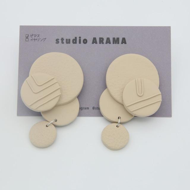 studioARAMA/スタジオアラマ/ホワイトサークル合わせピアス/WCA-1-43