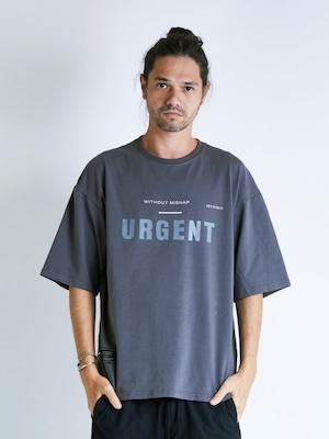 EGO TRIPPING (エゴトリッピング) URGENT TEE アージェントTシャツ / CHARCOAL 663811-04