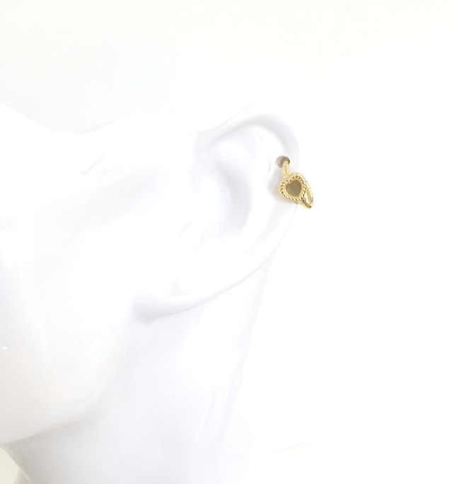 K18 body jewelry #0001 HEART GOLD RING ハートゴールドリングボディピアス/18金イエローゴールド