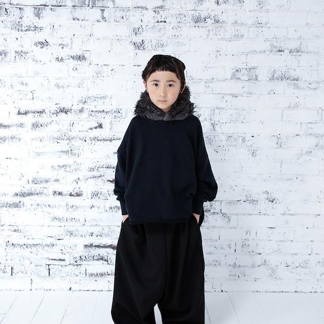 Last one XXL!michirico fur hoodie ブラック (L/XL/XXL)[MR20AW-05] ※メール便不可