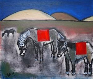 Modern art seris.  Horse(額付)F10号