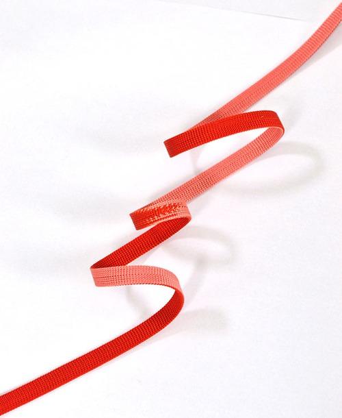 左右染め分け三分紐 赤