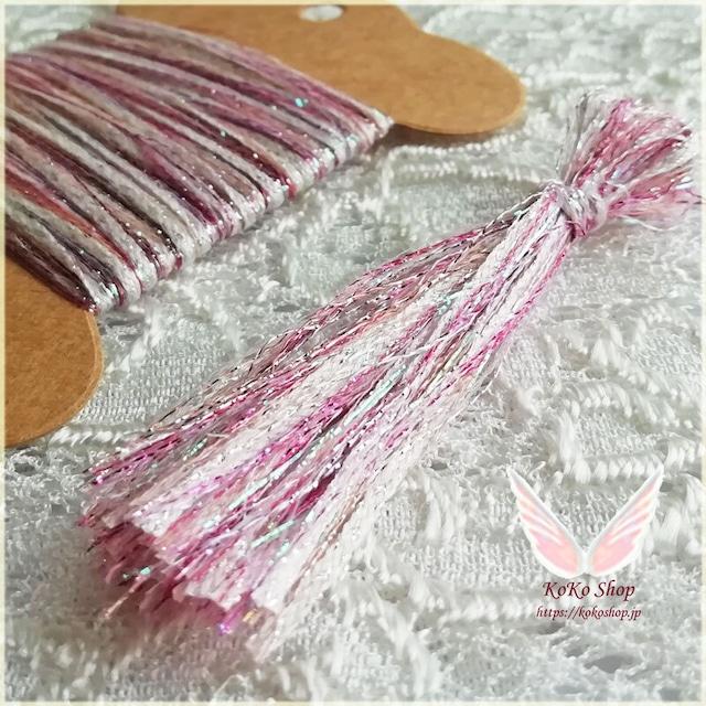 引き揃え糸カード  ~ for Jewelry ~ ピンク  オリジナル糸 ファンシー ラッピング レース タッセル