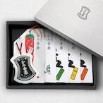 【紙箱入り】Aセット  七味1・山椒1・塩3    五種詰合せ / 【Paper gift box】 Set A (5-Flavor Assortment)