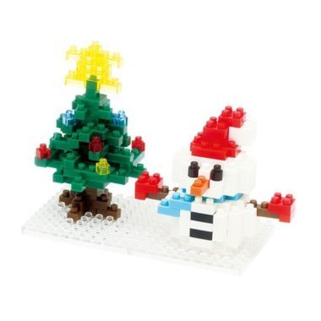 【限定生産】nanoblock 雪だるま&クリスマスツリー2013(NBC-100)