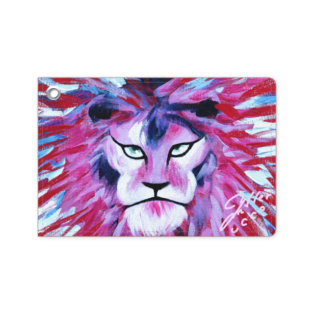 Pink Lion パスケース:ユッコ・ミラー絵画シリーズ