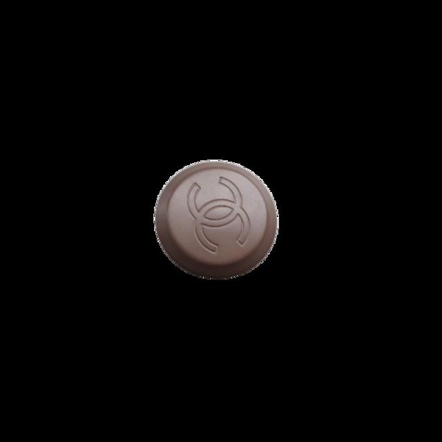 【LAST ONE SALE】ブラウン ココマーク ボタン 2.0cm