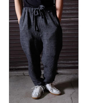 Linen Wool Knee Change Pants -charcoal <LSD-BJ3P2>