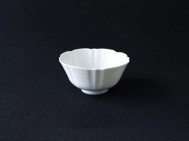 ■柳川謙治  : 白磁輪花小鉢
