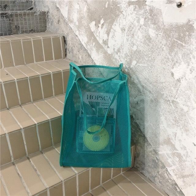 Mesh Fashion Handbag(3color)