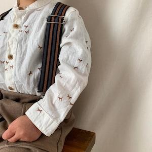 【即納】traditional suspender【ストライプ サスペンダー】