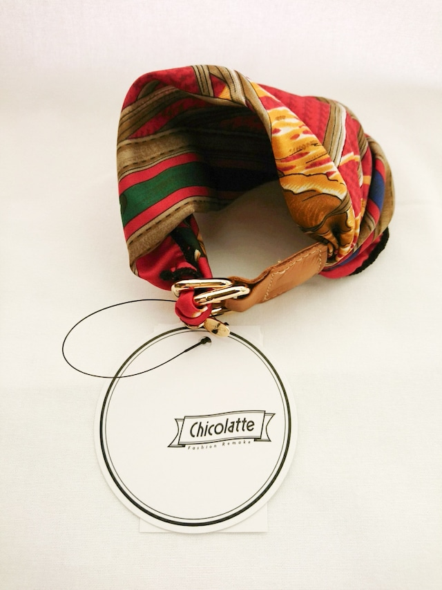 【Chicolatte】ボリュームたっぷりなバングル(red)