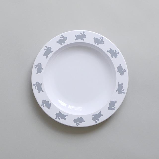 BUDDY+BEAR Hoppy Bunny Plate 23cm [black]