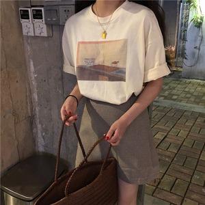 Kitchen print T-shirt(シャツ)a-048
