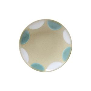 益子焼 つかもと窯 「 Nisai 」 プレート 皿 約16cm 糠青二彩 TN-22