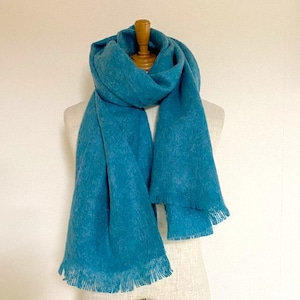 Mohair Stole Turquoise