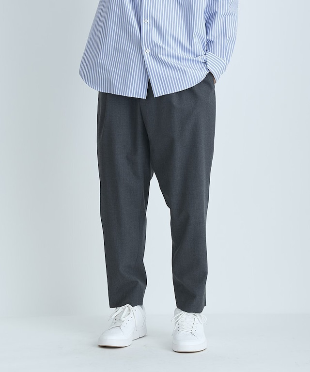 【ATON】WOOL TROPICAL | EASY TAPERED PANTS