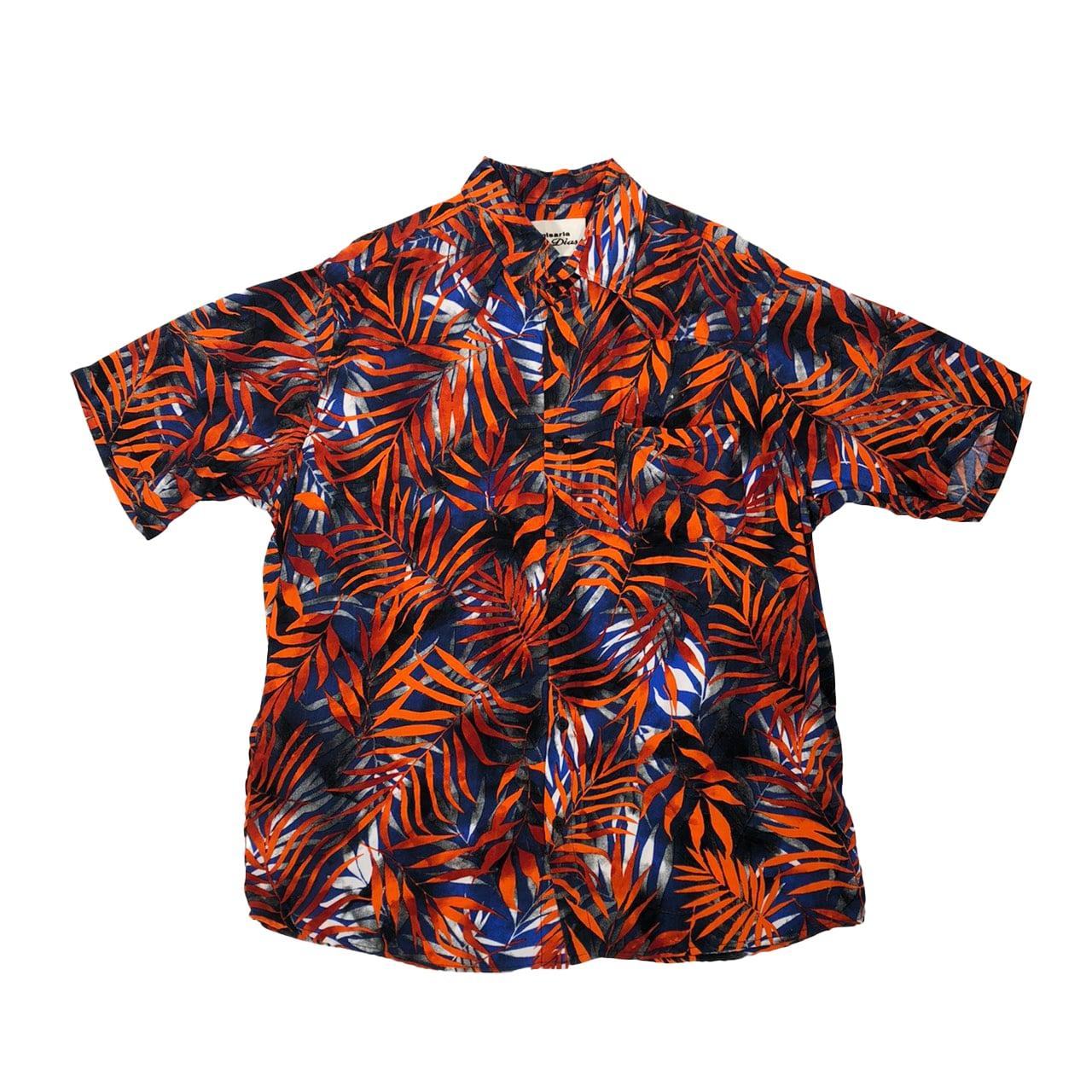 Caio Dias_Viscose Print Shirt:Brown