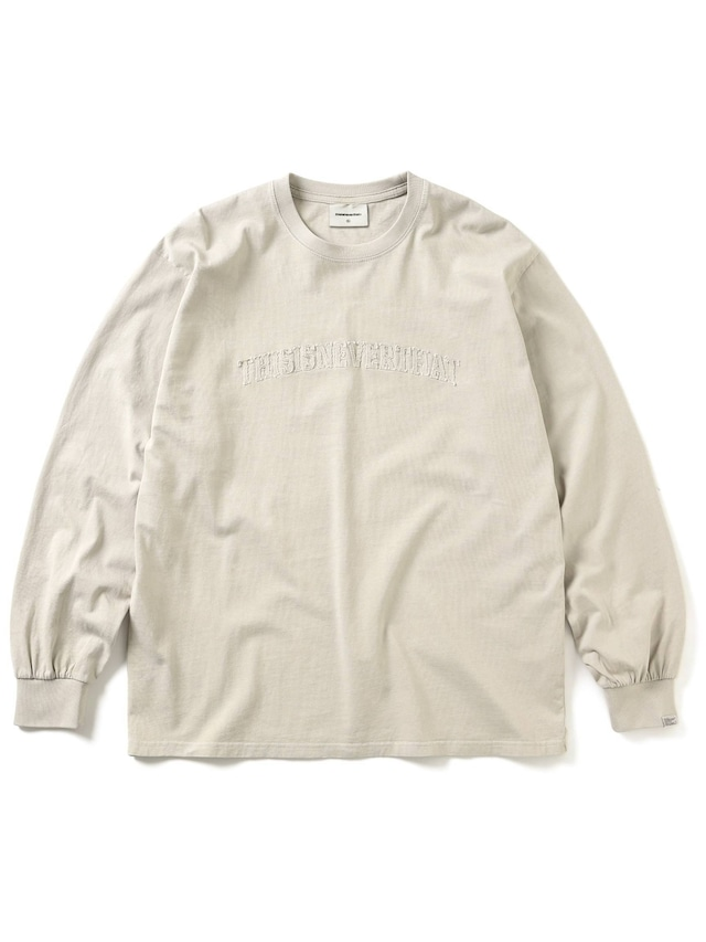THISISNEVERTHAT ARCH-LOGO L/S TEE IVORY
