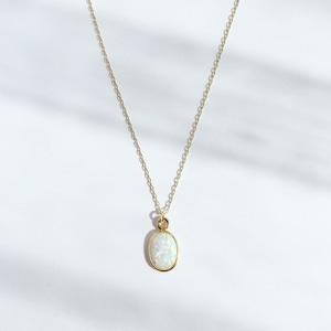 Opal Earth Prism Necklace / K10YG