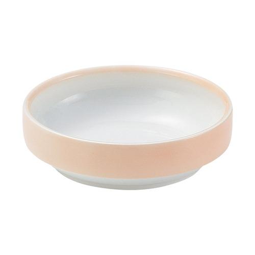強化磁器 14.5cm すくいやすい食器 ぼかしオレンジ【1714-2740】