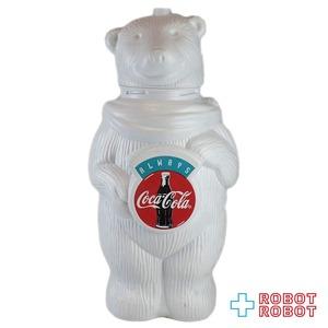 コカコーラ・ベア シロクマ ドリンクボトル ストロー欠