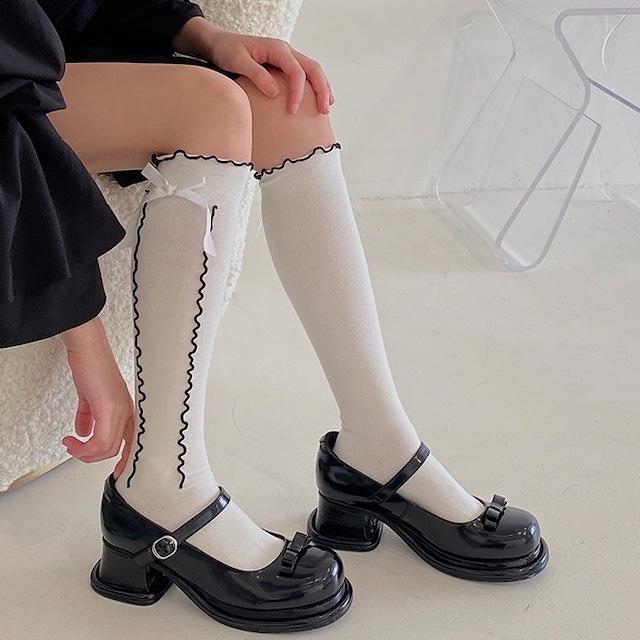 wave ribbon socks 2c's
