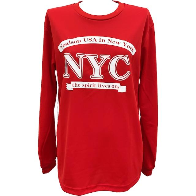 NYCロングTシャツ(レッド)【1ET1914】