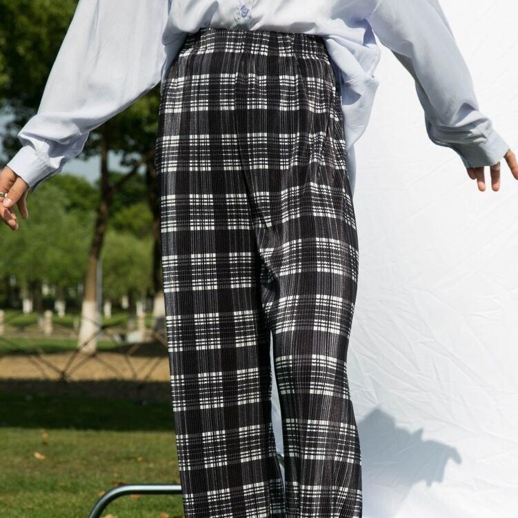 British check pleats  pants(ブリティッシュチェックプリーツパンツ)b-326
