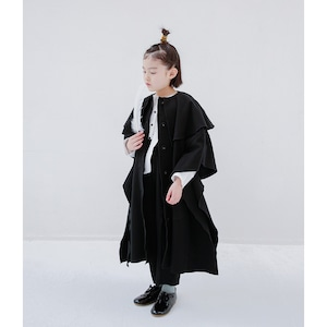 Last one!folk made fairy coat black M/L F20AW-026